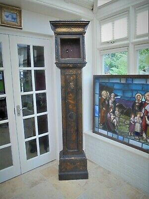 lacquered  long case clock case  FOR RESTORATION