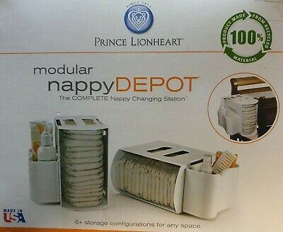 Prince Lionheart Modular Nappy Depot, Nappy changing station in white