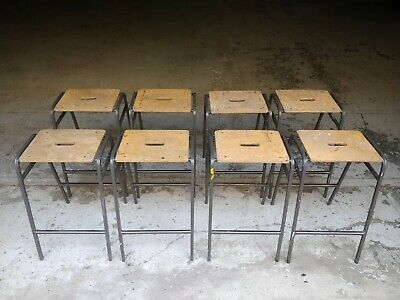 Vintage Stacking School Lab Stools by Remploy - Cafe Bar - 50 Available