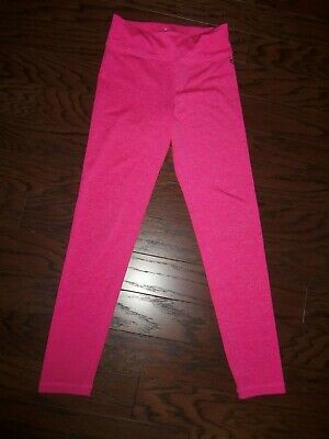 Justice Raspberry Heather Solid Polyester Stretch Active Leggings: Size: 12