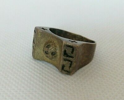 Etremely Rare Ancient Bronze Ring Viking Artifact Bronze Ring Authentic