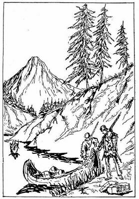 Scene Landscape Mountain #2 Unmounted Clear Stamp Approx 60x30mm Scenery