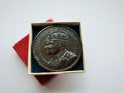 British King George Vi & Queen Elizabeth Coronation Bronze Medal 1937