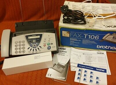 Brother FAX-T106 Thermal Transfer Fax Machine/Telephone plus new thermal ribbon