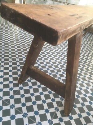 Vintage french wooden school bench, dining seating ,garden bench, plant bench