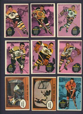 1961-62 Topps NHL Hockey Cards  U-Pick Choose Single Cards to Complete Set  USA