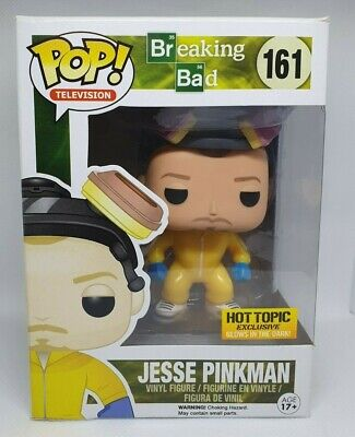 Funko Pop TV Breaking Bad #161 Jesse Pinkman Hot Topic Glow + Box Protector