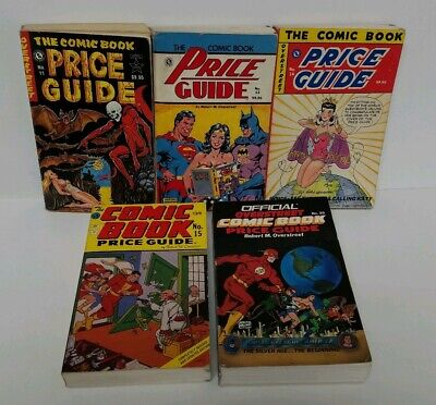 Overstreet Comic Book Price Guide Lot Of 5 # 11 13 14 15 20 Softcover Acceptable