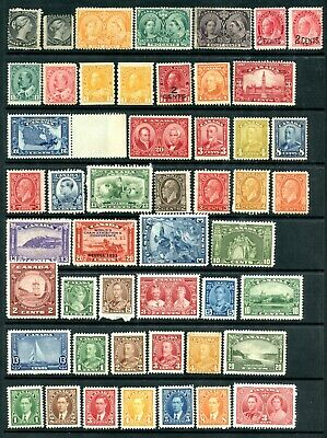 Weeda Canada 21//O15A F-VF MH collection of 1868-1937 issues CV $685