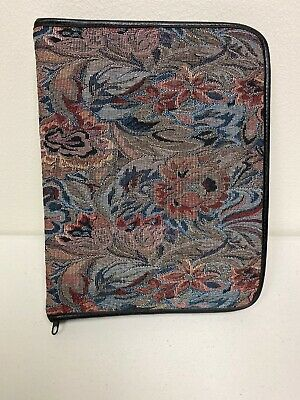 Day Planner 3 Ring Binder Avery Power Case Vintage Floral Tapestry