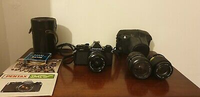 Pentax MV 35mm SLR film Camera with Cosina 2.8/28mm Lens + Extras