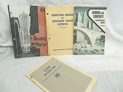 1950's Cement Concrete Reference Book Lime Mortar Masonry Mortar 4 Books C7
