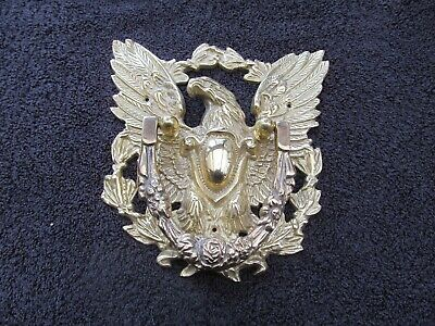 Vtg Cast  Brass Eagle Wreath Door Knocker Beautiful Detail!