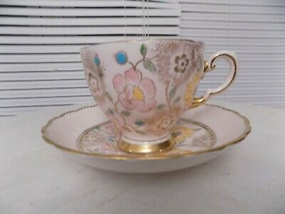 Vintage Plant Tuscan tea cup and saucer with flowers