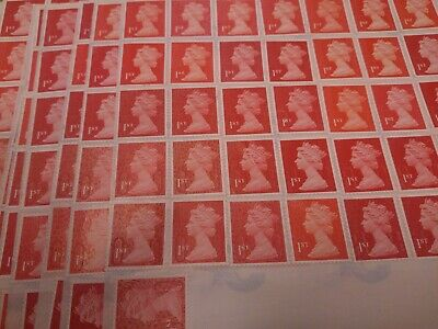 100 Genuine 1ST Class Stamps Unfranked Off Paper WITH ORIGINAL GUM Self-Adhesive