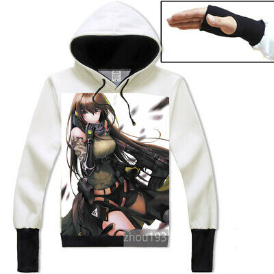 Anime Girls Frontline m4a1 Jacket Cosplay Unisex Hoodie White Pullover Coat Gift