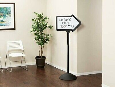 Safco Write Way Arrow Sign 4173BL Black Magnetic 2Sides Dry Erase Indoor Outdoor
