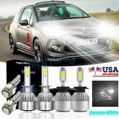 Citroen Relay H7 501 55w Super White Xenon HID Low Dip//LED Side Light Bulbs Set