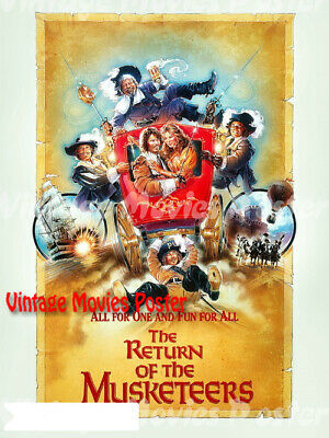 The Return of the Musketeers 1989 Repro Reproduction Print UK Quad Movie Poster
