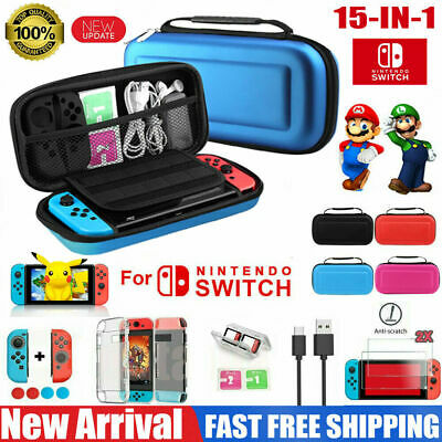 Travel Case Carrying Bag Hard Shell Cover for Nintendo Switch Screen Protector