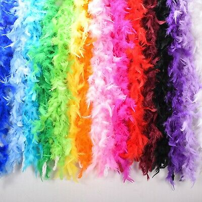 Feather Boa Luxury Thick Burlesque 1920s Charleston Flapper Fancy Dress 14 COLOR