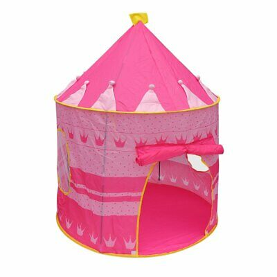 Pink Fold Play Tent Castle Playhouse Kids Boys Girl Children Outdoor/Indoor BY