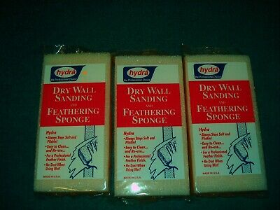 Lot of 3 Dry Wall Sanding Feathering Sponge Drywall Finish Texture HYDRA DW12