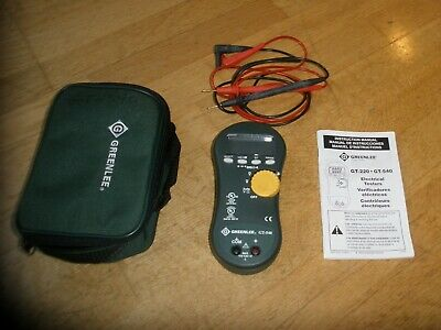 Greenlee Gt-540 Electrical Tester W/Case & Leads