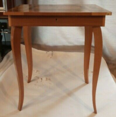 Italian Vintage Inlaid Marquetry Wood Musical Sewing Box Table Reduced
