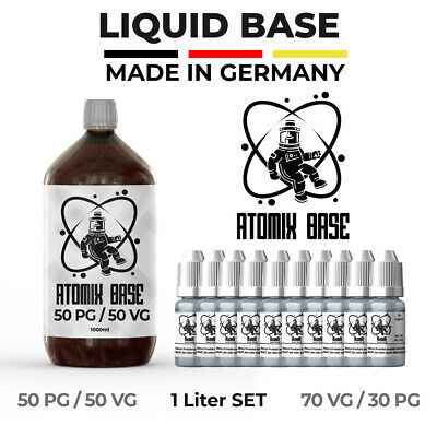 ATOMIX E Liquid Base ⭐ 1000ml - Nikotin Shots ⭐3mg, 6mg ⭐ 50/50 - 70/30⭐