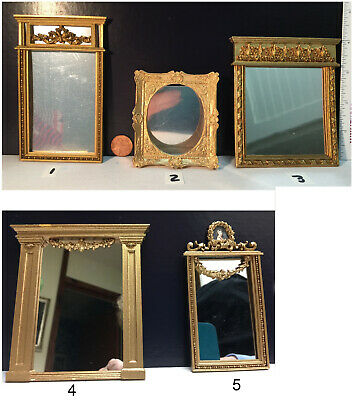PICTURE FRAME Rectangle Gold UMP33  dollhouse miniatures 1//12 scale