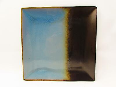 Kaidence Blue by Gibson Square Salad Plate Reactive Blue & Brown b351