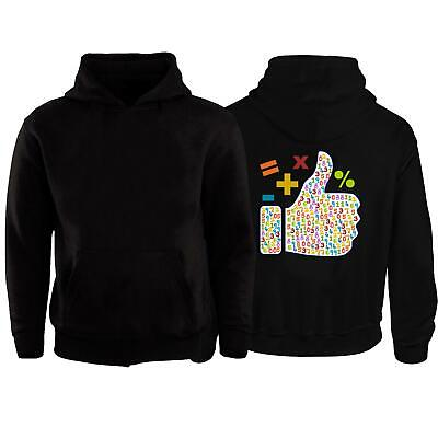 Kids Novelty Maths Day Thumbs Up Hoodie Number Boys Girls Childrens School Top