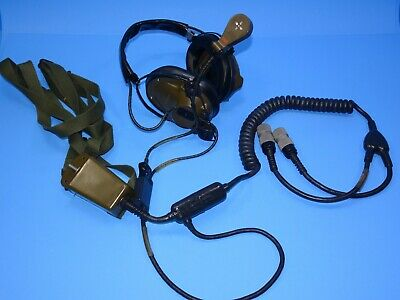 Astrocom 10957A Military Aviation Headset with Microphone M10 NOS