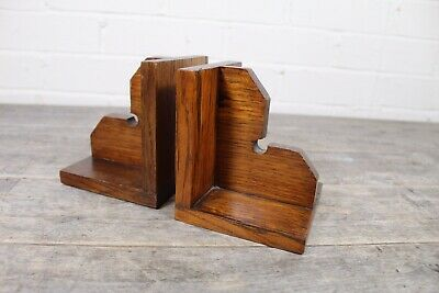Pair Of Art Deco 1920's Wooden Bookends.