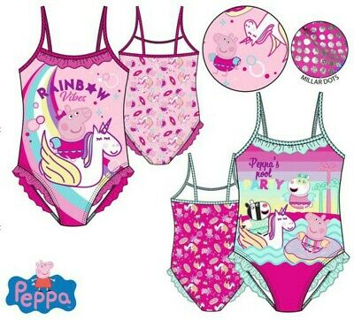 Girls Children Peppa Pig Swimming Costume Swimsuit Swimwear age 2-6 years