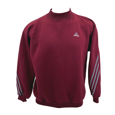 VTG Adidas Maroon Mens Large Womens Oversize Pullover Sweatshirt Made In USA