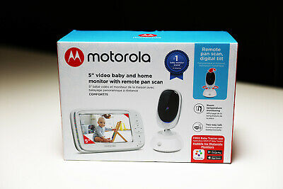 "Motorola Comfort75 Color Video Baby Monitor 5"" Screen Remote Pan Scan"