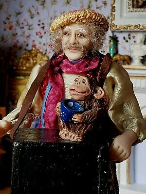 Dollhouse Miniature Artisan Twin Minis Sculpted Character Performer Doll 1:12