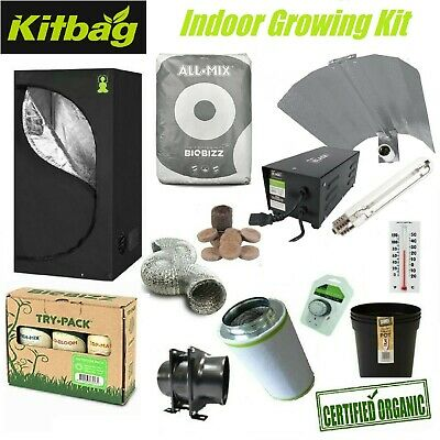 Organic Herb Chili Growing Kit Indoor Green house Complete 600w Light Tent Room