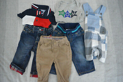 3-6 Month Boy 6 Piece Clothing Lot Tommy Hilfiger, Ben Sherman, Gap x3 EUC