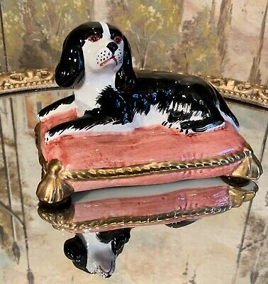 Vintage Chelsea House Spaniel on Pillow