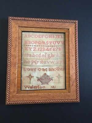 Early Nineteenth Century Waterloo Sampler Purchased In The Central Texas Area