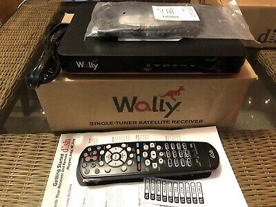 NEW Dish Network Wally Single-Tuner Satellite Receiver Black FAST FREE SHIPPING