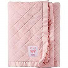 NWT Carters Child Of Mine Sweet Girl Pink Butterfly Quilted Sherpa Baby Blanket