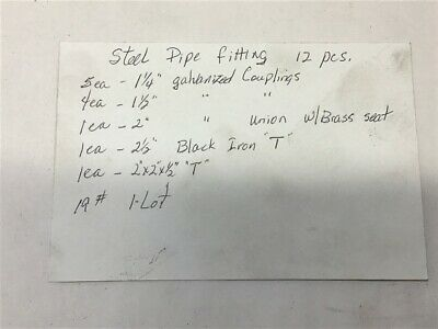 Assorted Lot of Steel Pipe Fittings 12 PCS