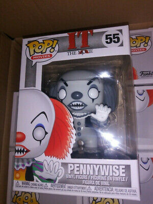 "Funko POP! ""IT"" Pennywise (Black & White exclusive variant) RARE/HTF"
