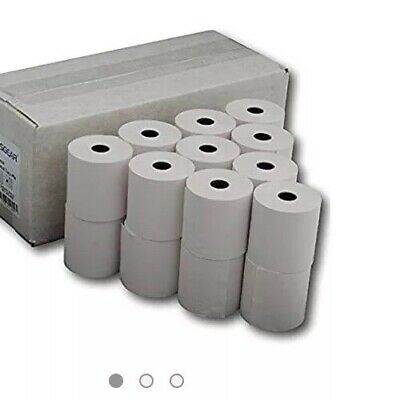 57 X 55 X 12.7Mm 2-Ply Thermal Roltech Credit Card Machine Roll 20Pk White