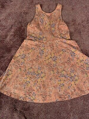 Girls Size 8 Old Navy Coral Floral Dress EUC