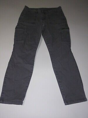a.n.a Womens Skinny Ankle Zippered Cargo Pants Size 29/8, Gray